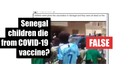 Photo of Fake News: Senegalese Children (7) Did Not Die From Covid-19 Vaccination Which Does Not Exist Yet