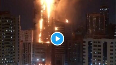 Photo of Video: Wildfire guts 52-storey building in Sharjah – UAE