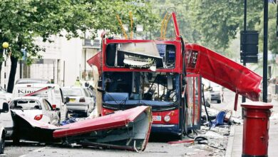 Photo of On this day July 7   th, 2005 Terrorists attack London transit system at rush hour killing 56 people and injuring 700