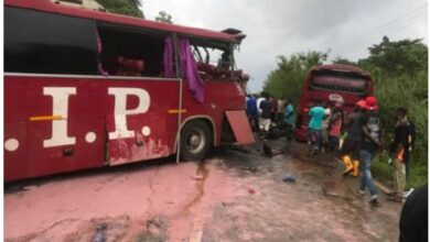Photo of Two dead after VIP buses crash on Asiakwa-Kyebi road