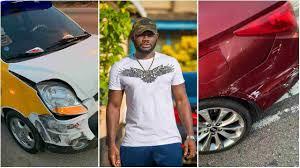 Photo of Actor Prince David Osei Survives Car Accident..