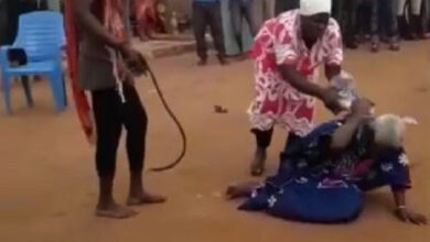 Photo of 90 year old woman beaten to death for being a witch